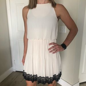 Small- Lush Black & White Party Dress